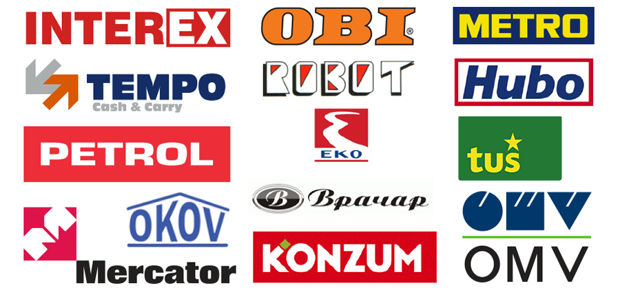 Značajni kupci u regionu - logoi